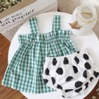 GREEN GINGHAM TOP
